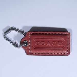 Coach Leather Hang Tag Charm
